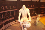 Donald Driver on a bike