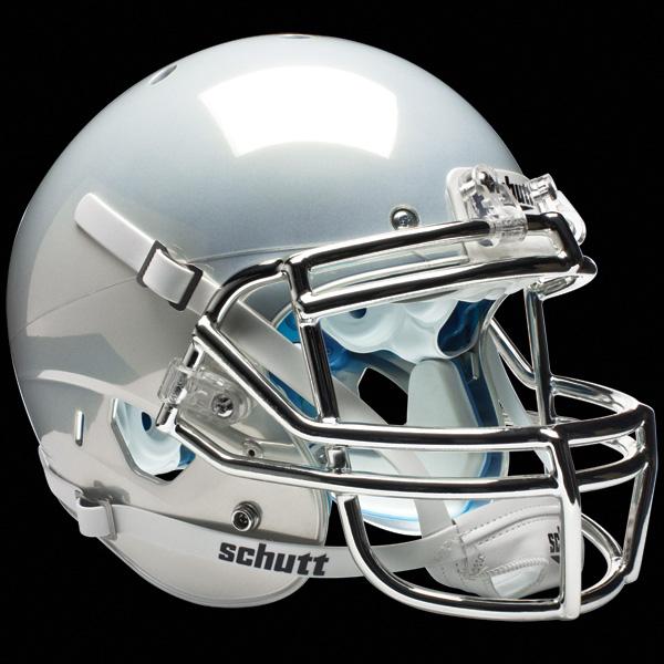 Football Helmet Chrome : White chrome real stuff on field